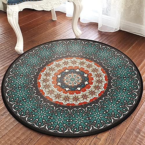 ZAZN Europäischer Und Amerikanischer Runder Teppich Türkischer Ethnischer Stil Fußmatten Wohnzimmer Couchtisch Decke Sofa Schlafzimmer Nachttisch Kreatives Fußkissen