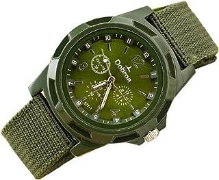 Mens Quartz Watch,Hosamtel Men's Fashion Sport Braided Canvas Belt Watch Analog Wrist Watch
