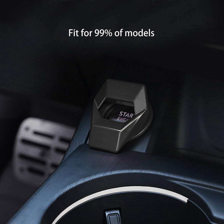 Ramecar Universal Engine Start//Stop Push Button Cover Aluminum Alloy Car Power Control Trim for Honda Civic Accord CRV XRV Dodge Challenger Charger Toyota CHR Blue