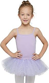 فستان راقصة الباليه بتنورة ملمعة وبلوزة بحمالات رفيعة للفتيات الصغيرات من ام دي ان ام دي