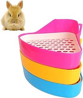 Vivian Triangle Potty Trainer Corner Litter Toilet Indoor for Small Animal Hamster Chinchilla Guinea Pig Ferret
