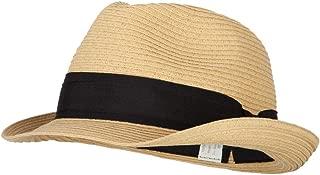 Women's Paper Braid Straw Fedora Hat