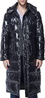 Men's Winter Warm Down Coat Men Packaged Down Puffer Jacket Long Coat with Hooded Compressible
