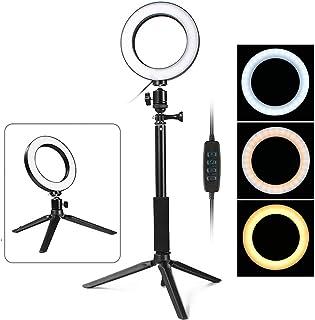 Thlevel Luz de Anillo de 5.7con Soporte de trípode para Selfie Maquillaje Transmisión en Vivo y Video de Youtube Luz LED de cámara (Type B)