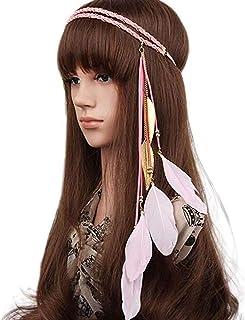 Yazilind Femmes Rose Fleur Fronti/ère Cheveux Bandeau Stretch Bandeau pour Halloween Accessoires De No/ël