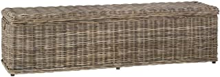 Safavieh Home Collection Caius Natural Wicker Storage Bench