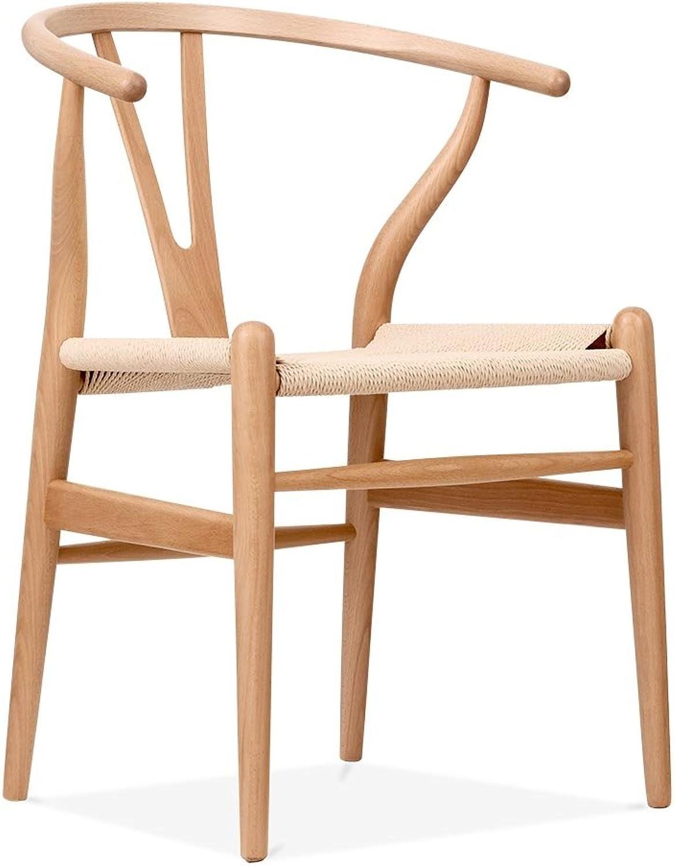 HomeCraft Hans Wegner Wishbone Chair, Natural finish