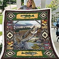 3 dのベースの魚の毛布のキルト、マイクロファイバー豪華なSherpa毛布のための毛布のための毛布のための毛布子供と大人の毛羽立ち毛羽毛布の寝具,Cashmere,130x150cm