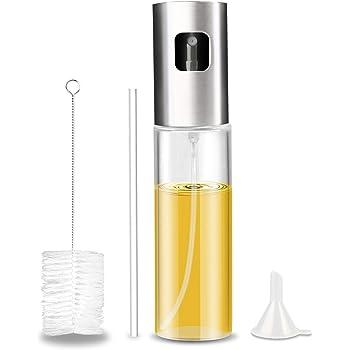 Bottiglia di vetro dello spruzzatore dellolio di oliva dellacciaio inossidabile con 2 spazzole libere dellolio per BBQ//aceto//salsa di soia
