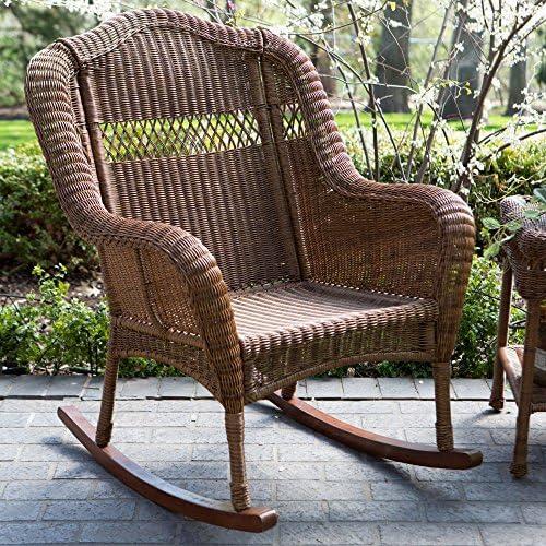 Best Coral Coast Casco Bay Resin Wicker Rocking Chair