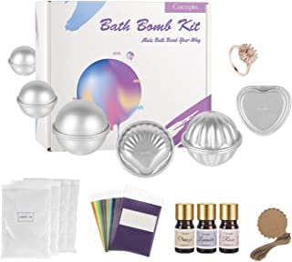 Bath Bomb Making Kit, Complete Set with 6 Molds, 12 Color Mica Powder, 1 Bath Bomb Ring, 78 Pieces Set, Gift for Teens and Women