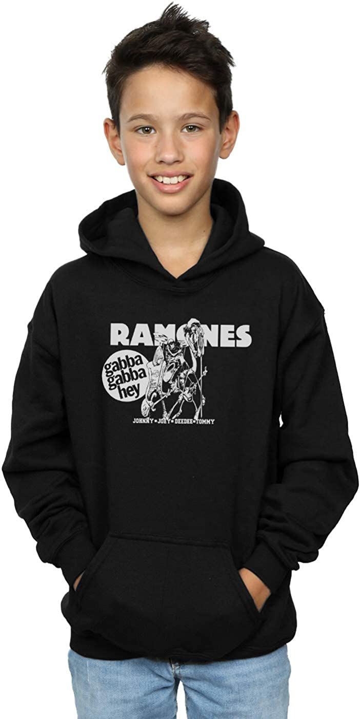 ABSOLUTECULT Ramones Boys Gabba Gabba Hey Cartoon Hoodie
