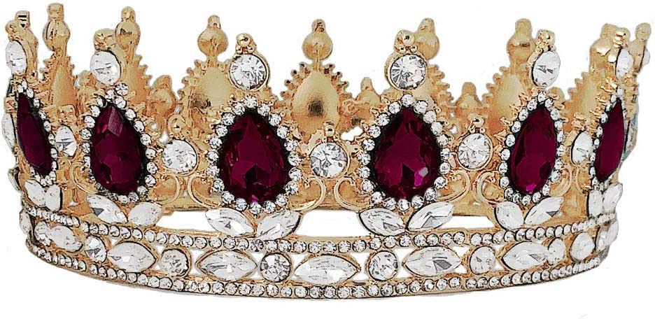 Crowns and Tiaras for Free Shipping Cheap Bargain Gift Women Queen Retro Round Class Golden Max 69% OFF Crown