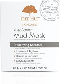 Tree Hut Skincare Exfoliating Mud Mask, Detoxifying Charcoal, 2.9 Ounce