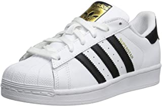 adidas Kids Girls Superstar Leather Low Top Lace Up Fashion Sneaker US