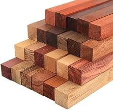 CarpenterC 15pcs Rosewood Lumber Assortment Mixed Species Unfinished Wood for Wood DIY Handmade Sculpture Arts and Crafts