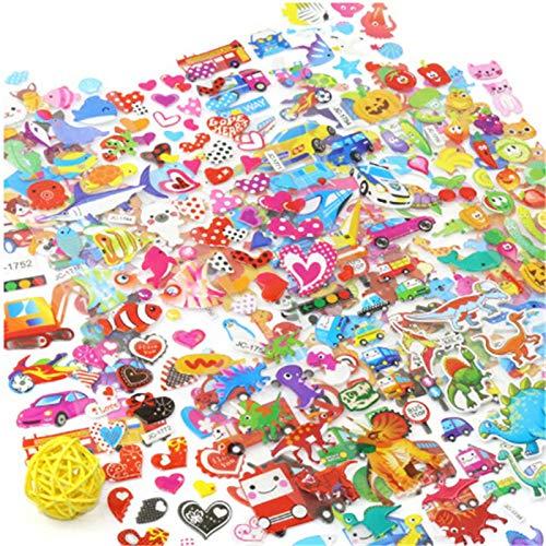 5 Hojas/Lote 3D Cartoon Puffy Bubble Stickers Animal Mixto Mickey Cars Dinosaurio Spiderman Waterpoof DIY Niños Niño Niña Juguete