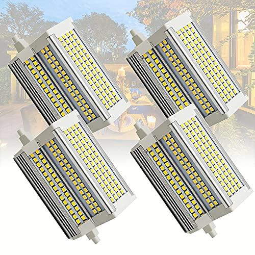 Bulbs 4X R7s LED 118mm dimmerabile Bianco Caldo 3000K 50W, Sostituzione della Lampadina alogena R7s 220V-240V CA, Doppia estremità equivalente a Una Lampada da 500W