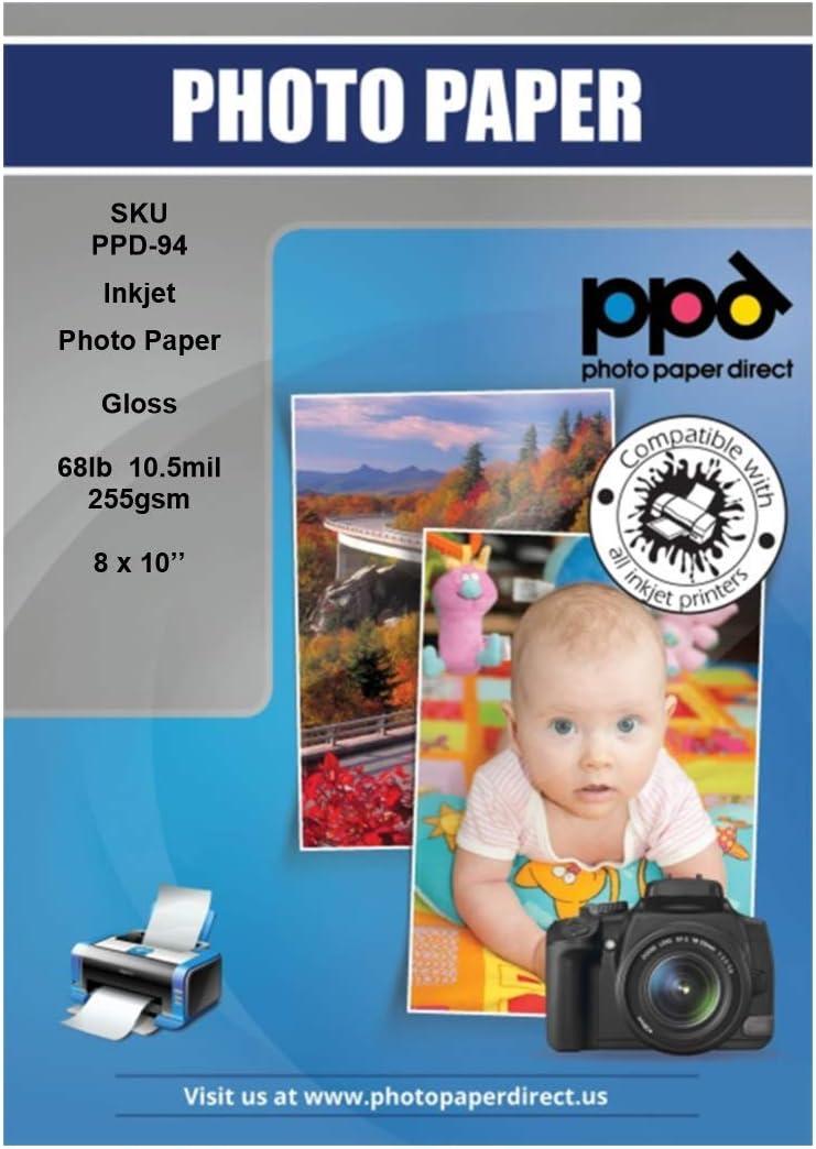 PPD Inkjet Glossy Super Premium Photo Paper 8x10