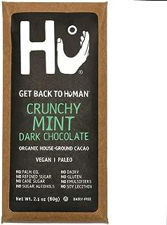 Hu Vegan Chocolate Bars | 4 Pack Crunchy Mint Chocolate | Gluten Free, Paleo, Non GMO, Kosher Dark Chocolate | 2.1oz Each