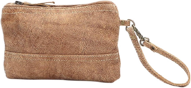 Myra Bag Leather Wristlet Bag S0995