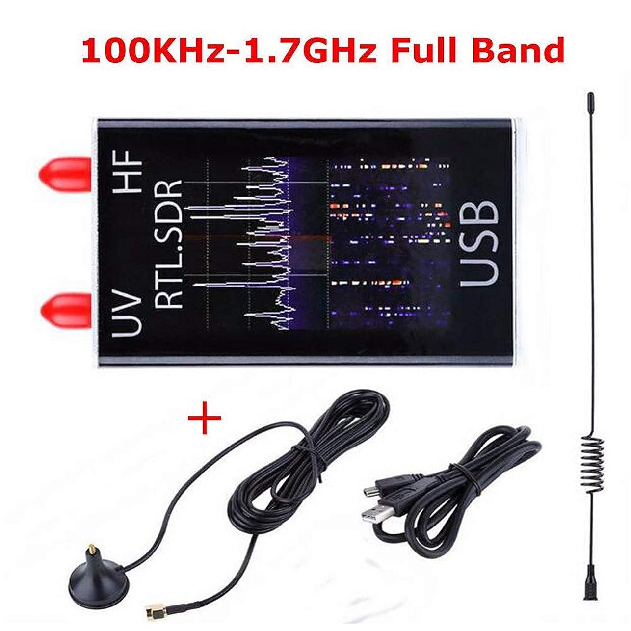 前兆注入オンスACHICOO 100KHz?1.7GHzフルバンドUV HF RTL-SDR USBチューナーレシーバ/ R820T + 8232ハムラジオ