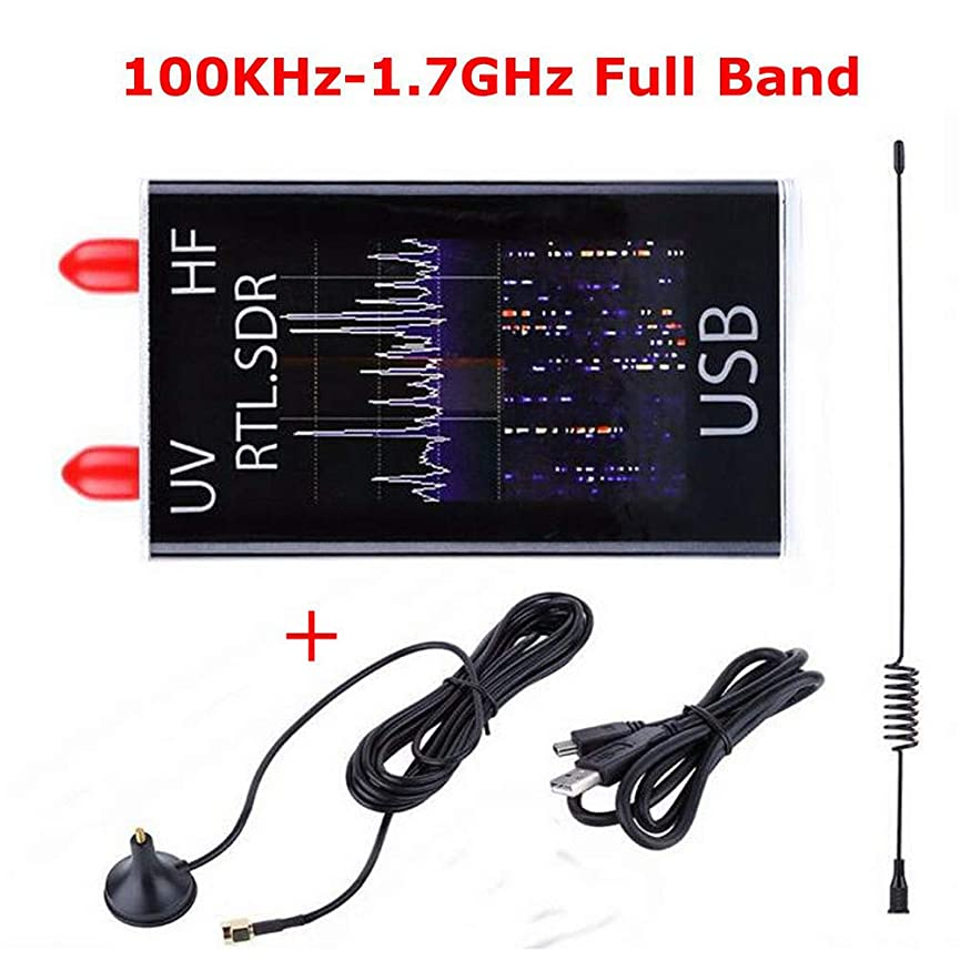 雄大な中止します初期のACHICOO 100KHz?1.7GHzフルバンドUV HF RTL-SDR USBチューナーレシーバ/ R820T + 8232ハムラジオ