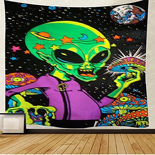 Espacio exterior tapiz alienígena arte tapiz colgante de pared dormitorio familiar decoración tapiz fondo tela manta A7 100x150cm