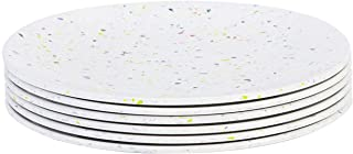 Zak Designs 1313-0843-ISET Confetti Salad Plates, Set, Eggshell SP