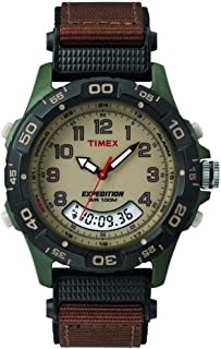 Timex Men's T45181 Year-Round Chronograph Quartz Brown Watch