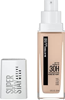 (30ml, 115 IVORY) - Maybelline New York Super Stay Full Coverage Liquid Foundation Makeup, Ivory, 30ml