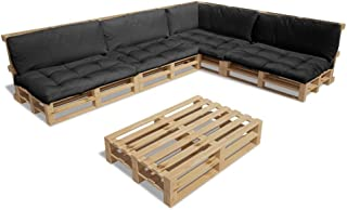vidaXL 15tlg. Holz Palettenmöbel Lounge Gartenmöbel 9 Palettenkissen Sitzgruppe
