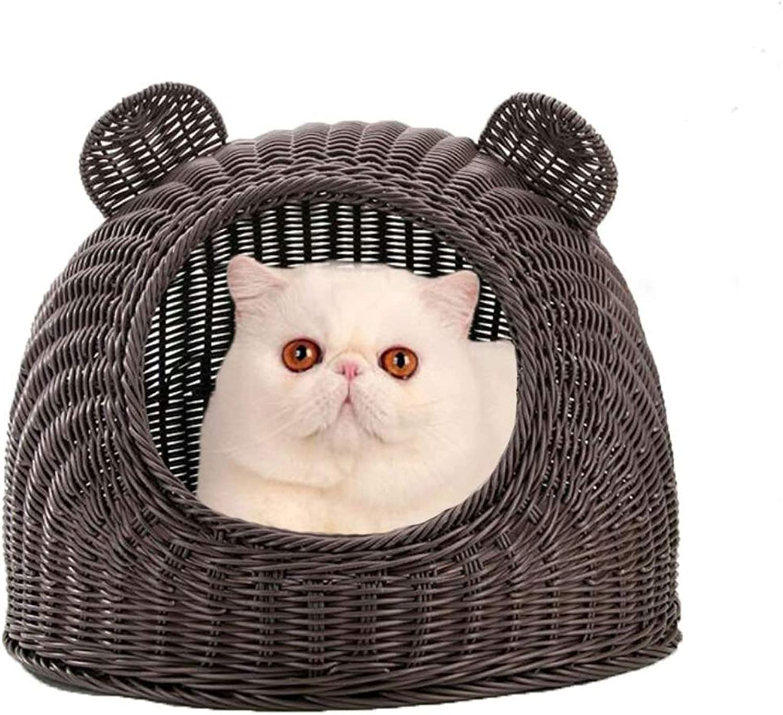 Pet Nest Cat's SelfWarming House Detachable PE Rattan Basket For Puppy Cat Bed Home Kitten Harbor FourSeason Available Haven