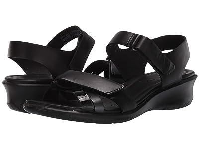 ECCO Felicia Ankle Strap Sandal (Black/Black Dark Shadow Metallic/Black Cow Leather/Calf Leather/) Women