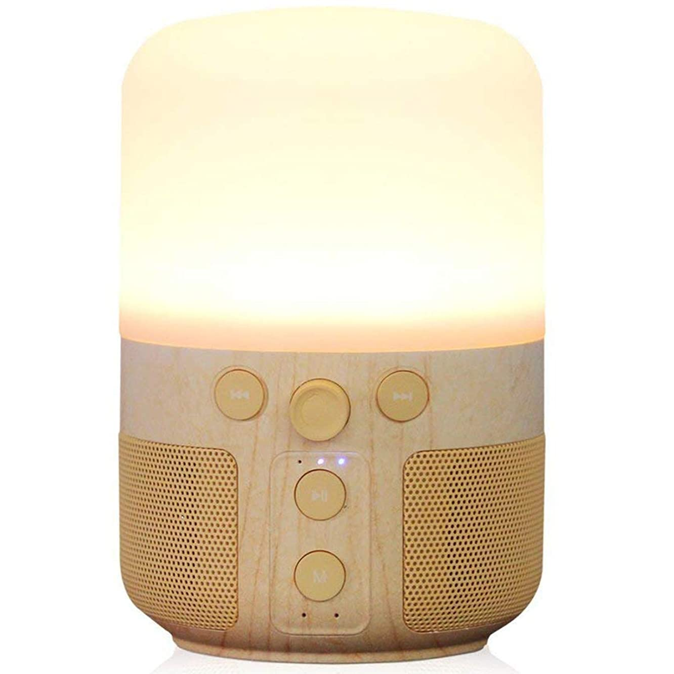 MYMAHDI Portable Wireless Bluetooth 4.0 Speaker and LED Light Lamp with Quality Sound, Touch Light Sensor, MP3 Player, Micro TF SD Card, AUX, USB, 4000mAh Battery-Bamboo Design