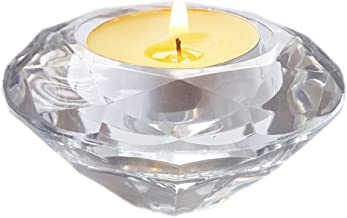 ZeroDeco Set of 6,Clear Tea Light Holders, Tea-Light Candle Holder, Ideal Gift for Spa, Aromatherapy, Weddings, Tealights,LED Tealight Candles