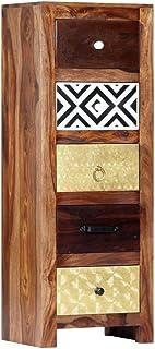 vidaXL - Armario auxiliar de madera de palisandro 5 cajones 40 x 30 x 110 cm