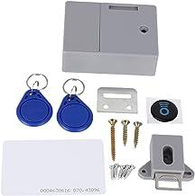 Tashido Elektronisch RFID-hangslot voor houten kasten, gebruiksklaar en programmeerbaar (grijs)