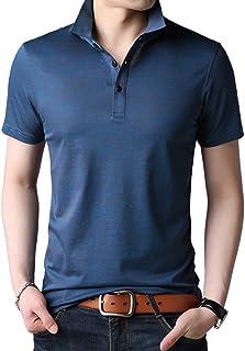 ポロシャツ トップス メンズ 半袖 無地 ファッション スポーツ かっこいい カジュアル シンプル 通気性 快適 薄手 吸汗速乾 (3カラー)