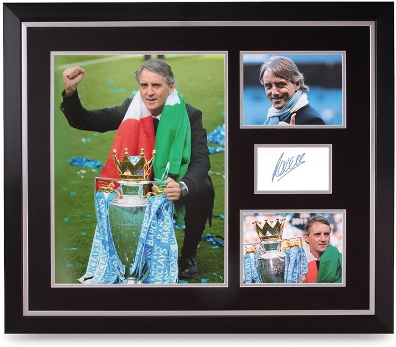 Up North Memorabilia Roberto Mancini Signed Photo Large 24x20 Framed Man City Autograph Display + COA