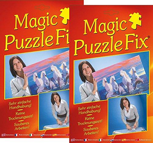 Magic Puzzle Fix (2er-Set)- Der innovative Puzzle-Kleber: Transparente Spezialhaftfolien | Einfach, sauber & Sicher! Geeignet für alle Puzzleformate!…