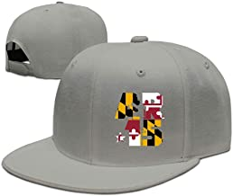Azckhel Flag of Maryland AR-15 Unisex Classic Adjustable Baseball Caps Visor Hat Flat Bill Cap