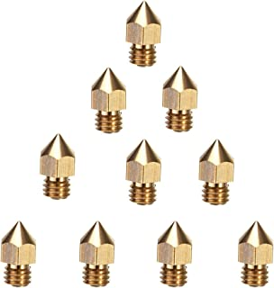 Creality 3D Printer Extruder Nozzle 10PCS 0.4mm MK8 for Makerbot Anet A8 Creality CR-10 CR-10S S4 S5 Ender-3/Ender 3 Pro