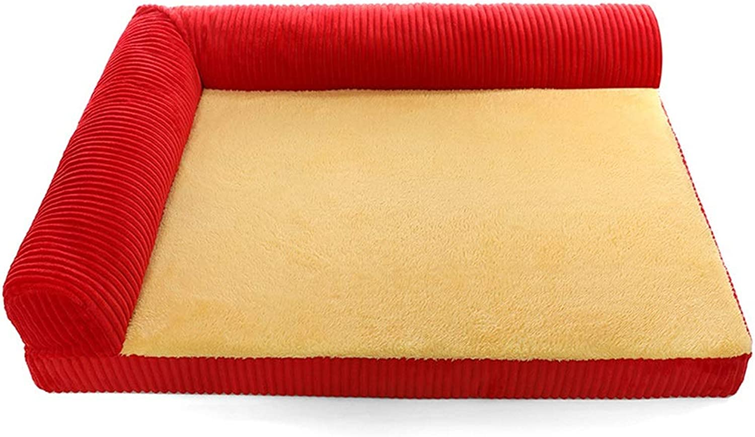 HU Pet Nest For Cervical greenebrae, Detachable Cleaning (large, Medium And Young) Dogs (color   B, Size   L(100X80X18) CM)