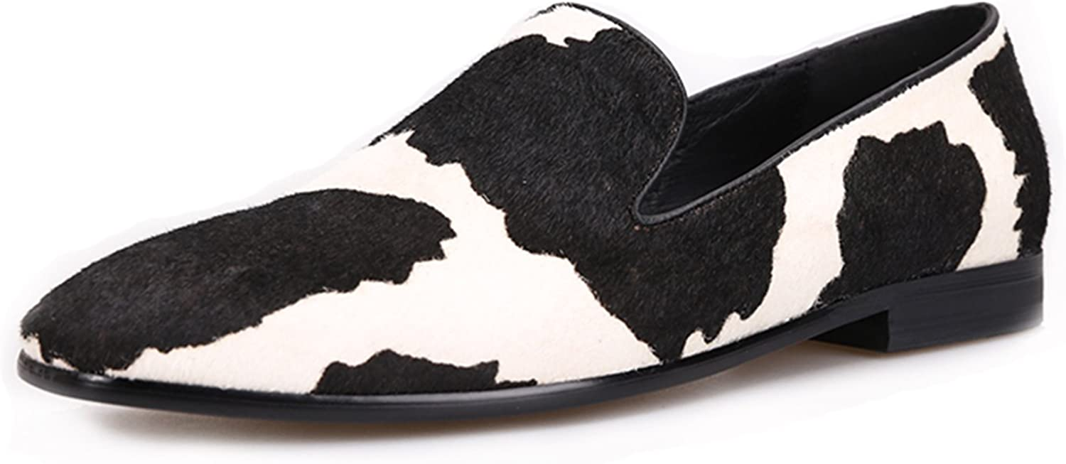 HIHANN Men Loafers Ultra-Cheap Deals with Black Party Stitching White price Fashion and