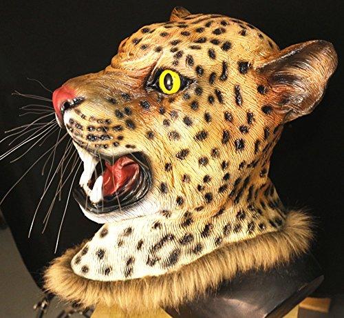 HY cusfull Halloween Maske Latex Maske von Tieren des für die Kostüm-Halloween-Weihnachten Kostüm Partei Dekorationen Zubehör adulti-Testa des Leopard