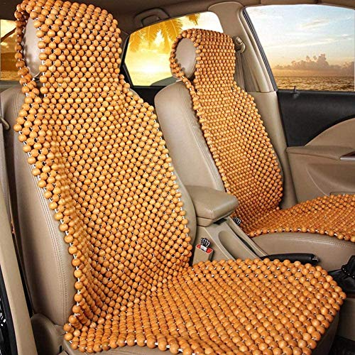 BOOM Auto sitzschoner Sommer Auto Sitzauflagen Holz Perlen Sitz Abdeckung Massage AutoSitzkissen Atmungs Kühlen Universal Größe, für Fahrersitz und Vordersitze