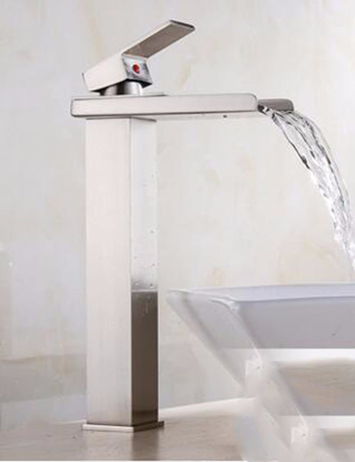 Qmpzg-The Copper Surface Basin Faucet?Cold Water Basin Basin Mixer?The Bathrooms Are Raised And The Bathroom Faucets?The Waterfall Mixer?E
