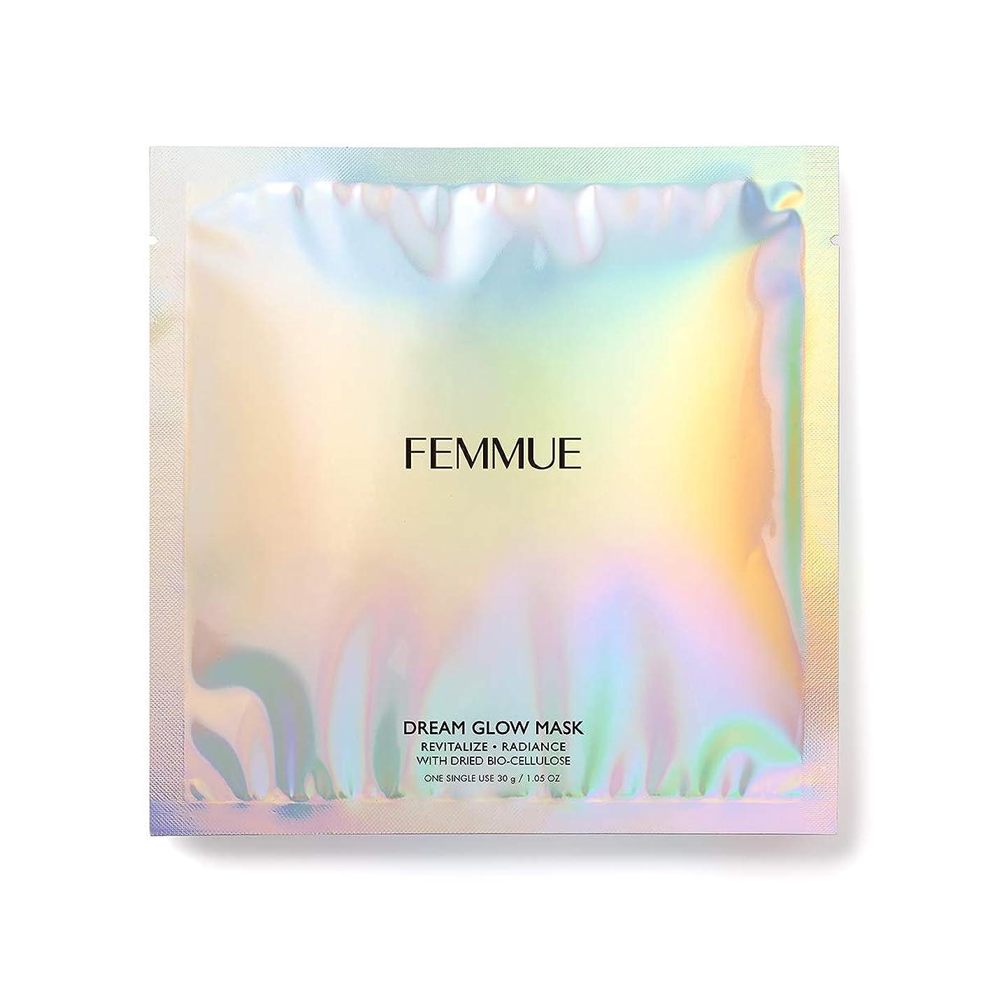 損傷専門知識小説FEMMUE(ファミュ) ドリームグロウマスクRR[透明感*?キメ]30mL×6枚入