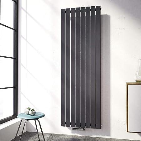 Vertikal Heizk/örper Design Paneelheizk/örper 1800x620mm Antrazit flach Einreihig Mittelanschluss Heizung 1317W